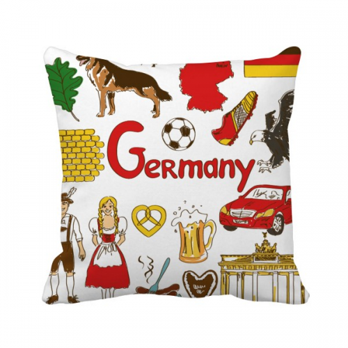 Germany Landscap Animals National Flag Throw Pillow Square Cover