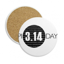 3.14 Pi Day Anniversary Ceramic Coaster Cup Mug Holder Absorbent Stone for Drinks 2pcs Gift