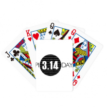 3.14 Pi Day Anniversary Poker Playing Card Tabletop Board Game Gift
