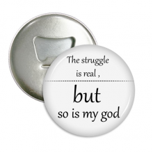 Iman's Faithful Encouraging Bible Quote Round Bottle Opener Refrigerator Magnet Badge Button 3pcs Gift