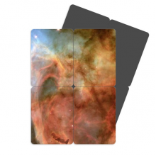Brown Clouds Nebulae Blue Refrigerator Magnet Puzzle Home Decal Magnetic Sticker set of 4 Gift