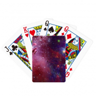 Blue Red Clouds Stars Galaxy Poker Playing Card Tabletop Board Game Gift