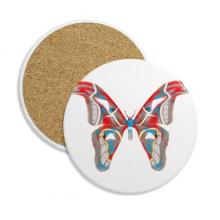 3D Butterfly in Red&Blue colour Ceramic Coaster Cup Mug Holder Absorbent Stone for Drinks 2pcs Gift