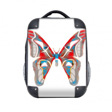 """3D Butterfly in Red&Blue colour Hard Case Shoulder Carrying Children Backpack 15"""" Gift"""