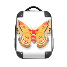 """3D Chinese Butterfly in Orange colour Hard Case Shoulder Carrying Children Backpack 15"""" Gift"""