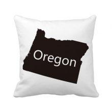 Oregon The United States Of America Map Throw Pillow Sleeping Sofa Cushion Cover