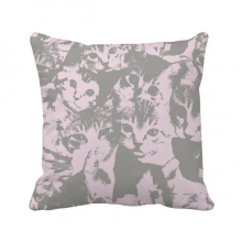 Cat Fashion Poster Protect Animal Pet Lover Throw Pillow Square Cover