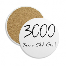 3000 years old Girl Age Ceramic Coaster Cup Mug Holder Absorbent Stone for Drinks 2pcs Gift