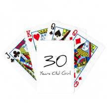 30 years old Girl Age Poker Playing Card Tabletop Board Game Gift