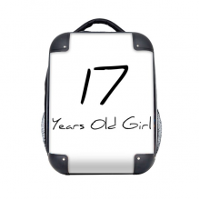 """17 Years Old Girl Age Young Hard Case Shoulder Carrying Children Backpack 15"""" Gift"""