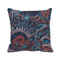 Abstract Seamless Texture Fish Animal Throw Pillow Square Cover