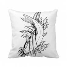 Fish Swimming Satified Sea Seaw Throw Pillow Square Cover