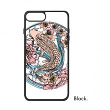 Carp Pink Lotus Pattern Geometry For iPhone SE 2 new for Apple 78 Case  Cover