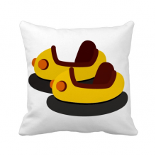 Bumper Car Amusement Park Illustration Throw Pillow Square Cover