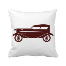 Brown Geometric Classic Cars Silhouette Throw Pillow Square Cover