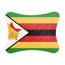 Zimbabwe National Flag Africa Country Paper Card Puzzle Frame Jigsaw Game Home Decoration Gift