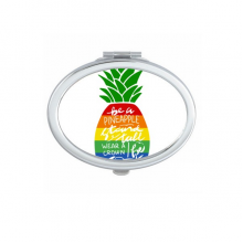 Pineapple Rainbow LGBT Flag Quote Oval Compact Makeup Mirror Portable Cute Hand Pocket Mirrors Gift