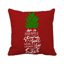 Be a Pineapple Stand Tall Quote Chritsmas Square Throw Pillow Insert Cushion Cover Home Sofa Decor Gift
