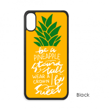 Pineapple Stand Tall Be Sweet Yellow Quote iPhone X Cases iPhonecase Apple iPhone Cover Phone Case Gift