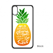 Pineapple Stand Tall Be Sweet Quote iPhone X Cases iPhonecase Apple iPhone Cover Phone Case Gift