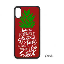 Be a Pineapple Stand Tall Quote Chritsmas iPhone X Cases iPhonecase Apple iPhone Cover Phone Case Gift
