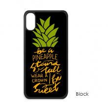 Be a Sweet Pineapple Fruit Quote iPhone X Cases iPhonecase Apple iPhone Cover Phone Case Gift