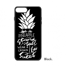 Be a Pineapple Stand Tall Quote Black iPhone 8/8 Plus Cases iPhonecase Apple iPhone Cover Phone Case Gift