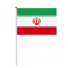 Iran National Flag Asia Country Hand Waving Flag 8x5 inch Polyester Sport Event Procession Parade 4pcs