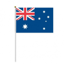 Australia National Flag Oceania Country Hand Waving Flag 8x5 inch Polyester Sport Event Procession Parade 4pcs