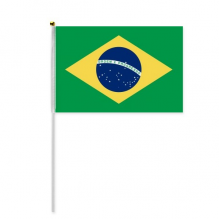 Brazil National Flag South America Country Hand Waving Flag 8x5 inch Polyester Sport Event Procession Parade 4pcs