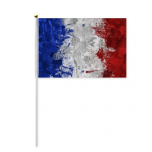 France Flag Country City Culture Hand Waving Flag 8x5 inch Polyester Sport Event Procession Parade 4pcs