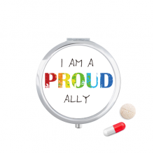 LGBT Rainbow Flag Proud Ally Pill Case Pocket Medicine Storage Box Container Dispenser