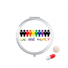 LGBT Rainbow Flag We Are Family Pill Case Pocket Medicine Storage Box Container Dispenser
