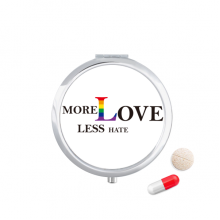 LGBT Rainbow Flag More Love Less Hate Pill Case Pocket Medicine Storage Box Container Dispenser