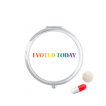 LGBT Rainbow Flag I Vote Today Pill Case Pocket Medicine Storage Box Container Dispenser