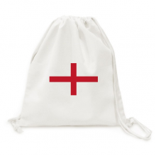 England National Flag Europe Country Backpack Canvas Drawstring Reusable Mesh Shopping Bag