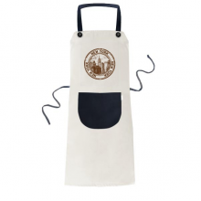 America New York Classic Country City Apron Cooking Bib Black Kitchen Pocket Women Men