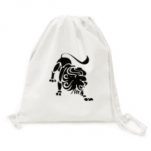 Constellation Leo Zodiac Sign Canvas Drawstring Backpack Travel Shopping Bags