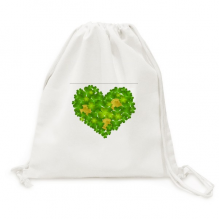 Clover Heart Ireland St.Patrick's Day Canvas Drawstring Backpack Shopping Travel Lightweight Basic Bag Gift