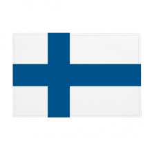 "Finland National Flag Europe Country Anti-slip Floor Mat Carpet Bathroom Living Room Kitchen Door 16""x30""Gift"