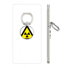 Warning Symbol Yellow Black Ionization Radiation Triangle Cell Phone Ring Stand Holder Bracket Universal Smartphones Support Gift