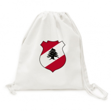 Lebanon Asia National Emblem Canvas Drawstring Backpack Travel Shopping Bags