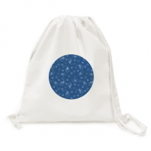 Pattern Blue Sky Night Dot Traditional Canvas Drawstring Backpack Travel Shopping Bags