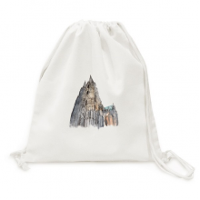Cologne Cathedral  in Cologne Germany Canvas Drawstring Backpack Travel Shopping Bags