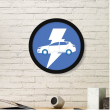 Energy Vehicles Protect Environment Pattern Art Painting Picture Photo Wooden Round Frame Home Wall Decor Gift