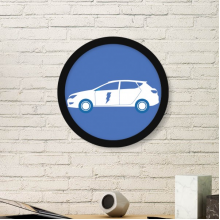 Energy Vehicles Protect Environment Art Painting Picture Photo Wooden Round Frame Home Wall Decor Gift
