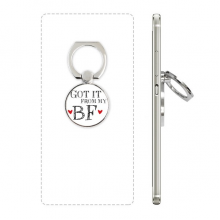 GF Got It From My BF Valentine's Day Cell Phone Ring Stand Holder Bracket Universal Smartphones Support Gift