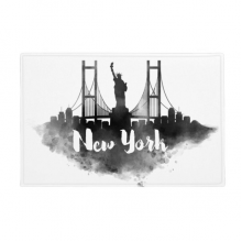 "New York America LandMark Ink City Painting Anti-slip Floor Mat Carpet Bathroom Living Room Kitchen Door 16""x30""Gift"