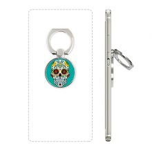 Cirrus Skull Flower Cross Mexico Culture Illustration Phone Ring Stand Holder Adjustable Loop Support