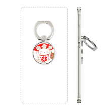 Cherry Blossoms Lucky Fortune Cat Japan Phone Ring Stand Holder Adjustable Loop Support